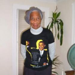 Campaigning for Obama at age 93. Circa 2008