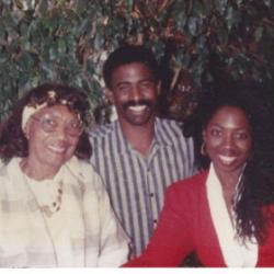 Adlene with son, Darryl and daughter, Sibongile circa 1990